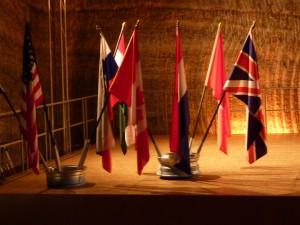 Einige Flaggen der Nationen, welche beim Untertagen-Marathon teilgenommen haben...!!!!